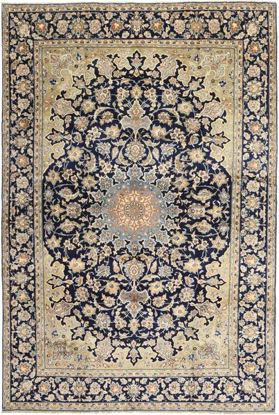 Najafabad Rug 249X382 Authentic  Oriental Handknotted Light Brown/Black (Wool, Persia/Iran)