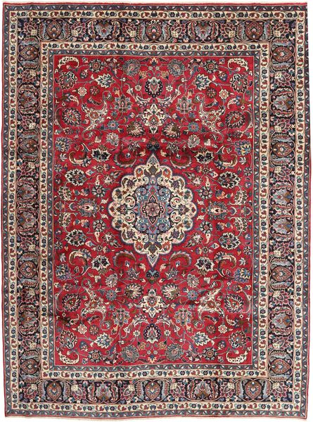 Mashad Rug 260X343 Authentic  Oriental Handknotted Dark Blue/Dark Red Large (Wool, Persia/Iran)