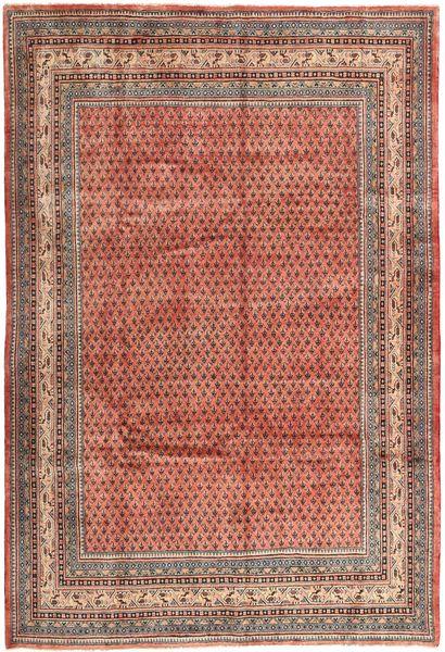 Sarough Mir Matto 210X313 Itämainen Käsinsolmittu Ruskea/Vaaleanruskea (Villa, Persia/Iran)