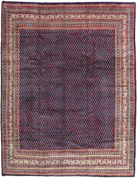 Sarough Mir Teppe 286X368 Ekte Orientalsk Håndknyttet Mørk Lilla/Lyselilla Stort (Ull, Persia/Iran)