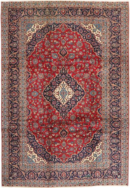 Keshan Matta 247X353 Äkta Orientalisk Handknuten Mörkröd/Mörkbrun (Ull, Persien/Iran)