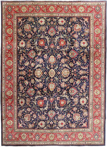 Tabriz Matto 295X405 Itämainen Käsinsolmittu Tummanvioletti/Vaaleanruskea Isot (Villa, Persia/Iran)
