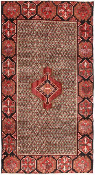 Koliai Matto 139X262 Itämainen Käsinsolmittu Käytävämatto Tummanpunainen/Ruskea (Villa, Persia/Iran)