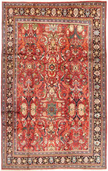 Arak Rug 212X337 Authentic  Oriental Handknotted Brown/Dark Red (Wool, Persia/Iran)