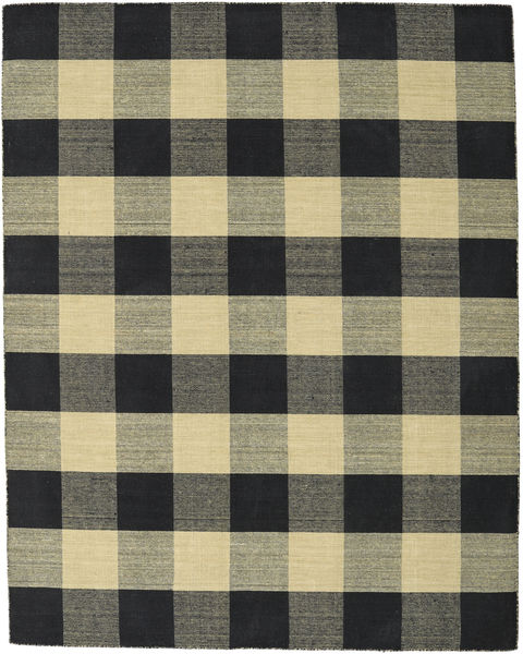 Check Kilim - Black / Gold rug CVD18342