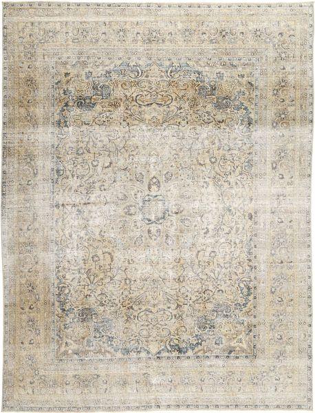 Colored Vintage Teppich  285X380 Echter Moderner Handgeknüpfter Hellgrau/Hellbraun Großer (Wolle, Persien/Iran)