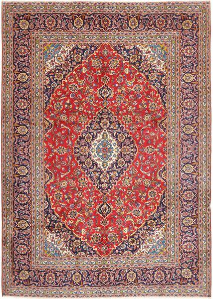 Keshan Matto 247X348 Itämainen Käsinsolmittu Vaaleanpunainen/Vaaleanruskea (Villa, Persia/Iran)