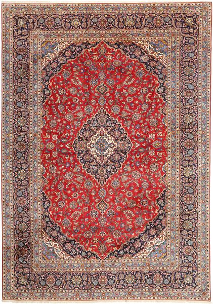 Keshan Rug 280X395 Authentic  Oriental Handknotted Dark Red/Light Brown Large (Wool, Persia/Iran)