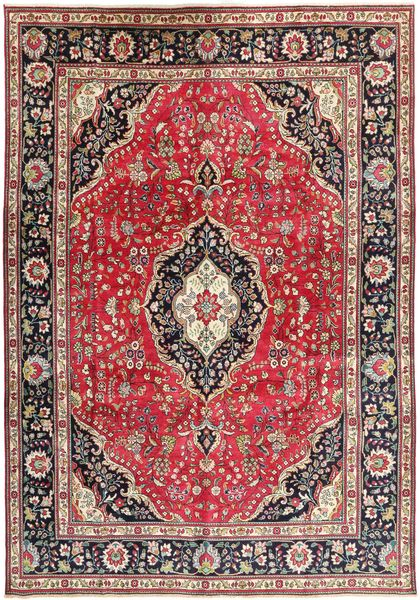 Tabriz Rug 244X345 Authentic  Oriental Handknotted Dark Red/Dark Brown (Wool, Persia/Iran)