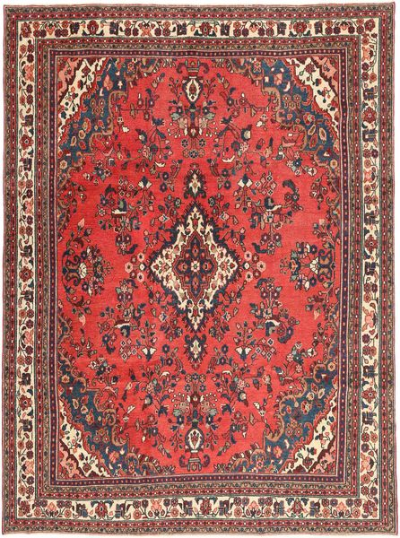 Hamadan Shahrbaf Patina Rug 250X339 Authentic  Oriental Handknotted Dark Red/Rust Red Large (Wool, Persia/Iran)