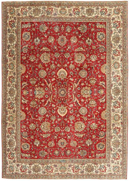 Tabriz Patina Matto 239X335 Itämainen Käsinsolmittu Ruskea/Tummanpunainen/Vaaleanruskea (Villa, Persia/Iran)