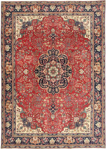 Tabriz Patina Rug 238X337 Authentic  Oriental Handknotted Dark Red/Dark Blue (Wool, Persia/Iran)