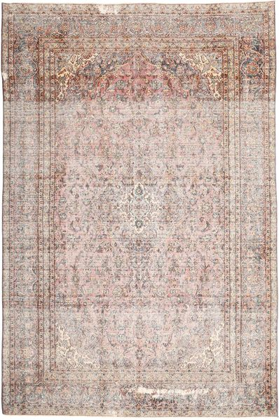 Colored Vintage Rug 265X410 Authentic  Modern Handknotted Light Grey/Light Pink Large (Wool, Persia/Iran)