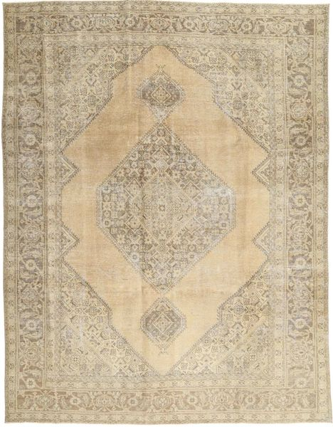 Colored Vintage Rug 256X330 Authentic  Modern Handknotted Beige/Light Grey Large (Wool, Persia/Iran)