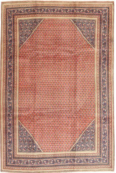 Sarough Mir Matto 210X317 Itämainen Käsinsolmittu Vaaleanruskea/Tummanbeige (Villa, Persia/Iran)