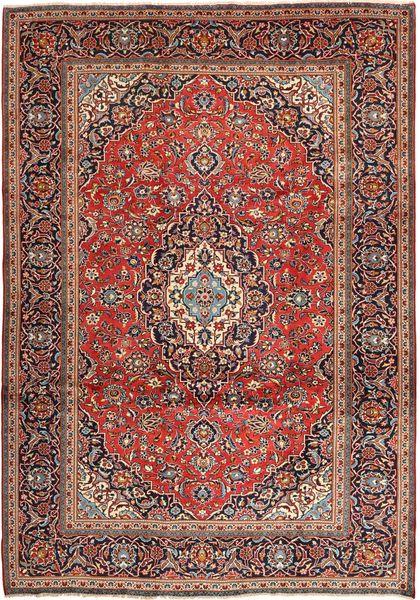 Keshan Matto 242X347 Itämainen Käsinsolmittu Tummanruskea/Tummanpunainen (Villa, Persia/Iran)