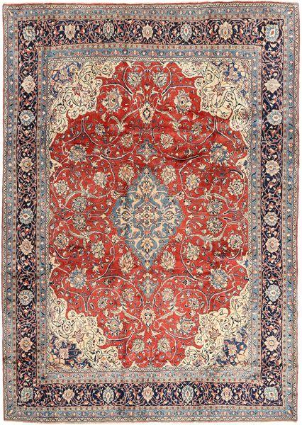 Sarough Matta 270X372 Äkta Orientalisk Handknuten Ljusgrå/Mörkröd Stor (Ull, Persien/Iran)