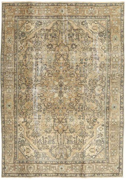Colored Vintage Teppe 192X280 Ekte Moderne Håndknyttet Olivengrønn/Lysbrun (Ull, Persia/Iran)