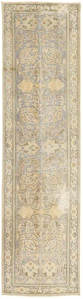 Colored Vintage Rug 72X283 Authentic  Modern Handknotted Hallway Runner  Light Grey/Beige (Wool, Persia/Iran)