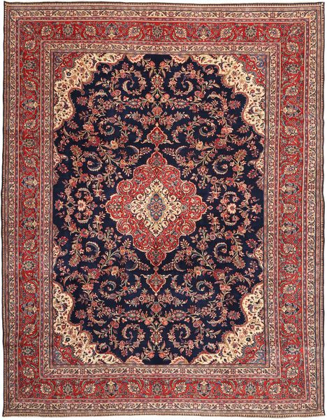 Sarouk Patina Rug 303X388 Authentic  Oriental Handknotted Dark Red/Light Brown Large (Wool, Persia/Iran)