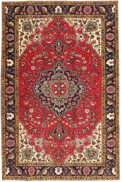 Tabriz Patina Matto 195X291 Itämainen Käsinsolmittu Vaaleanruskea/Tummanpunainen (Villa, Persia/Iran)