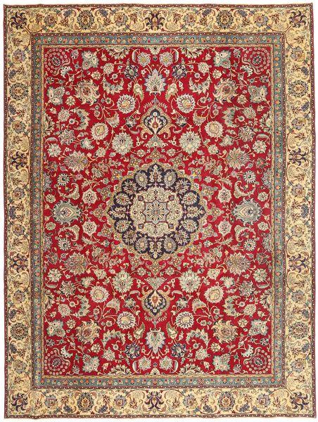 Täbriz Patina Teppich  270X359 Echter Orientalischer Handgeknüpfter Dunkelrot/Braun Großer (Wolle, Persien/Iran)