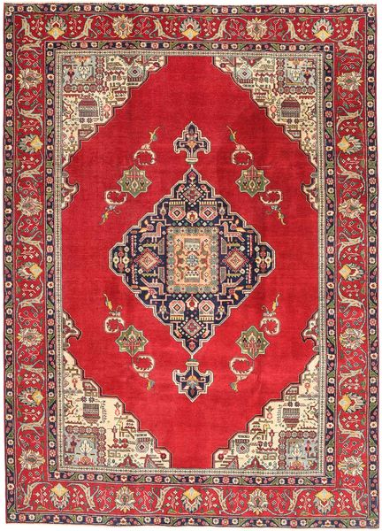 Tabriz Patina Matto 236X324 Itämainen Käsinsolmittu Punainen/Tummanpunainen (Villa, Persia/Iran)