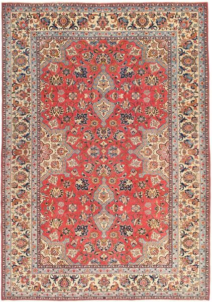Tabriz Patina Matto 229X325 Itämainen Käsinsolmittu Vaaleanruskea/Ruskea (Villa, Persia/Iran)