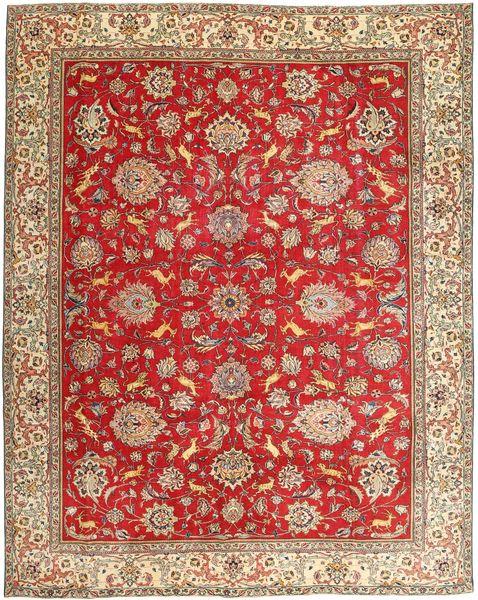 Tabriz Patina Teppe 295X365 Ekte Orientalsk Håndknyttet Lysbrun/Rust Stort (Ull, Persia/Iran)