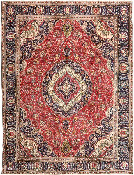 Tabriz Patina Rug 288X375 Authentic  Oriental Handknotted Dark Red/Dark Brown Large (Wool, Persia/Iran)