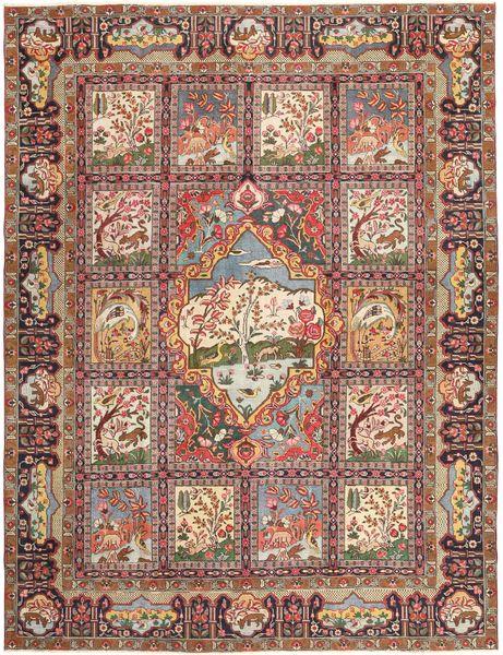 Kashmar Patina Matta 293X377 Äkta Orientalisk Handknuten Ljusbrun/Brun Stor (Ull, Persien/Iran)