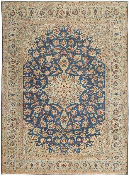 Najafabad Patina Rug 270X373 Authentic  Oriental Handknotted Light Brown/Dark Grey Large (Wool, Persia/Iran)