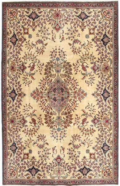 Tabriz Patina Rug 211X322 Authentic  Oriental Handknotted Light Brown/Yellow (Wool, Persia/Iran)