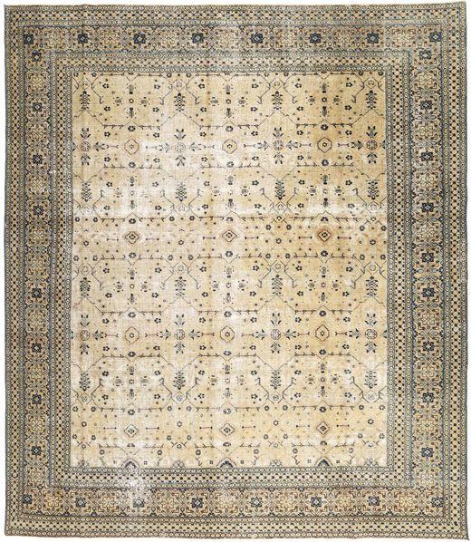 Meshkin Patina Alfombra 285X330 Oriental Hecha A Mano Marrón Claro/Beige Grande (Lana, Persia/Irán)