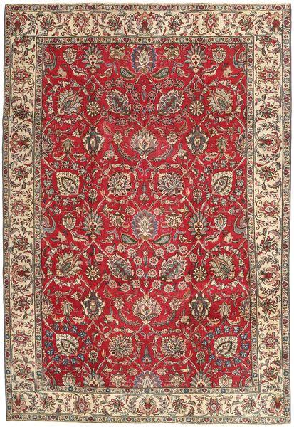 Tabriz Patina Matto 220X320 Itämainen Käsinsolmittu Ruskea/Tummanpunainen (Villa, Persia/Iran)