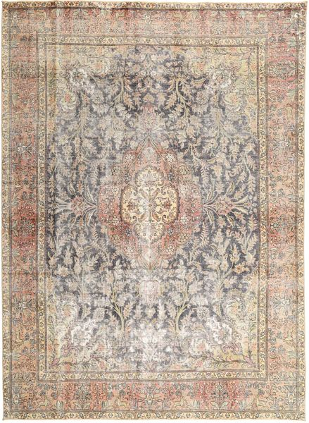 Colored Vintage Rug 286X390 Authentic  Modern Handknotted Light Brown/Light Grey Large (Wool, Persia/Iran)
