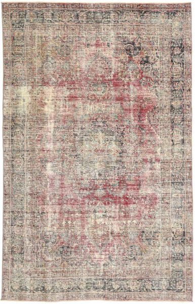 Colored Vintage Rug 185X290 Authentic  Modern Handknotted Light Grey/Light Brown (Wool, Persia/Iran)