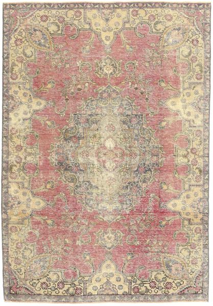 Colored Vintage Rug 184X264 Authentic  Modern Handknotted Light Brown/Light Pink (Wool, Persia/Iran)