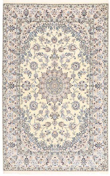 Naïn 6La Tapis 130X200 D'orient Fait Main Gris Clair/Beige (Laine/Soie, Perse/Iran)