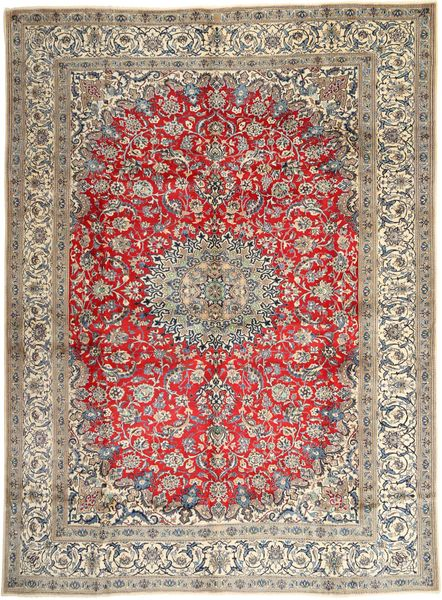 Nain Rug 290X400 Authentic  Oriental Handknotted Light Brown/Dark Brown Large (Wool, Persia/Iran)