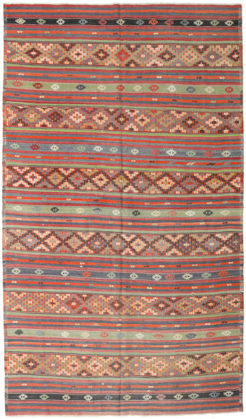 Kilim Turkish Rug 190X328 Authentic  Oriental Handwoven Light Brown/Rust Red (Wool, Turkey)