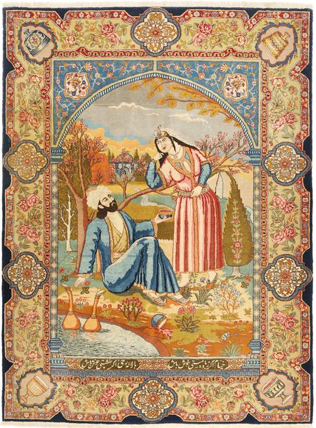 タブリーズ 絨毯 141X193 オリエンタル 手織り 薄茶色/茶 (ウール, ペルシャ/イラン)