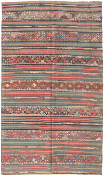 Kilim Turkish Rug 163X280 Authentic  Oriental Handwoven Light Brown/Rust Red (Wool, Turkey)