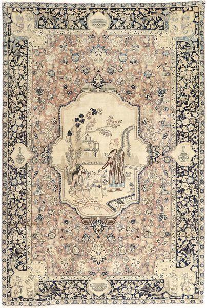 Tabriz Matto 195X290 Itämainen Käsinsolmittu Vaaleanruskea/Beige (Villa, Persia/Iran)
