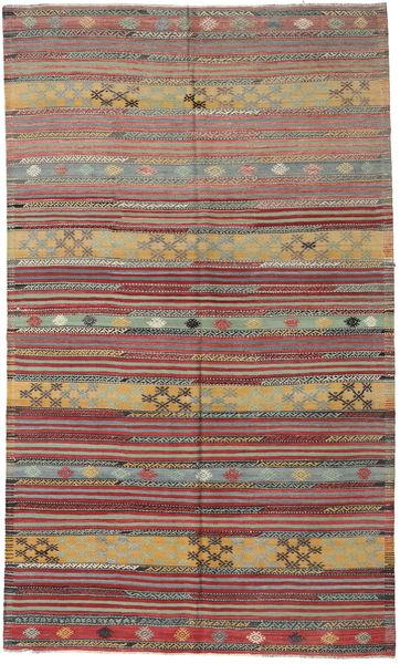 Kilim Turkish Rug 163X275 Authentic  Oriental Handwoven Dark Red/Dark Grey (Wool, Turkey)