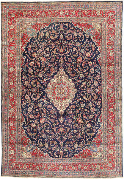 Hamadan#shahrbaf Rug 283X405 Authentic  Oriental Handknotted Light Brown/Dark Purple Large (Wool, Persia/Iran)