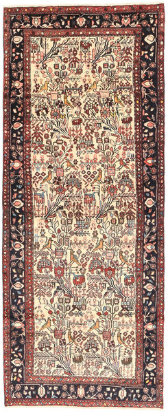 Rudbar Rug 114X285 Authentic  Oriental Handknotted Hallway Runner  Light Brown/Dark Blue (Wool, Persia/Iran)