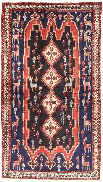 Afshar Vloerkleed 117X217 Echt Oosters Handgeknoopt Donkergrijs/Donkerrood (Wol, Perzië/Iran)