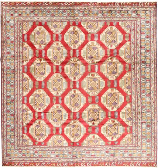 Turkaman Rug 306X317 Authentic  Oriental Handknotted Square Light Brown/Dark Beige Large (Wool, Persia/Iran)
