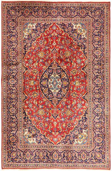 Keshan Matto 195X302 Itämainen Käsinsolmittu Tummanpunainen/Ruoste (Villa, Persia/Iran)
